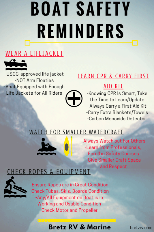 Boat Safety Tips Graphic