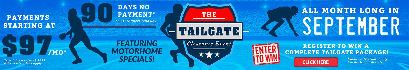 Bretz RV Tailgate sale